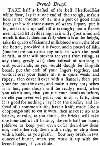 FrenchBreadInTheEnglishArtOfCookeryByRichardBriggs(1788)